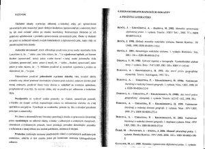Diplomová práca - Metodika a technická norma 33