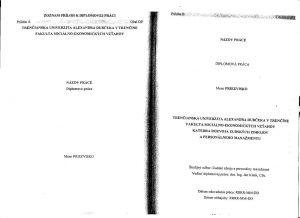 Diplomová práca - Metodika a technická norma 34