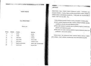 Diplomová práca - Metodika a technická norma 35