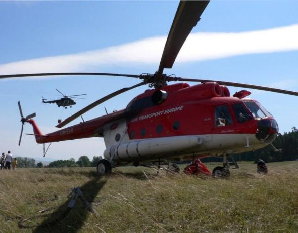 Vrtuľník Kristína, ATE, Mi-8T, OM-EVA