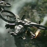 Film Avatar: Vrtuľník Scorpion Gunship v akcii
