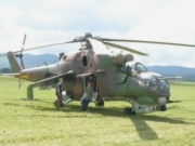 Vrtuľník Mi-24 na leteckom dni v Spišskej Novej Vsi