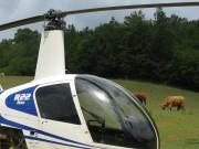 Novozéladská farma pri Piešťanoch: Dva vrtuľníky Robinson R-22