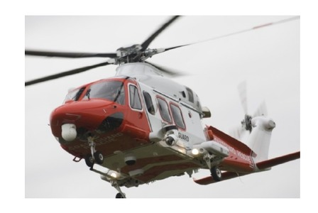 záchranný vrtuľník